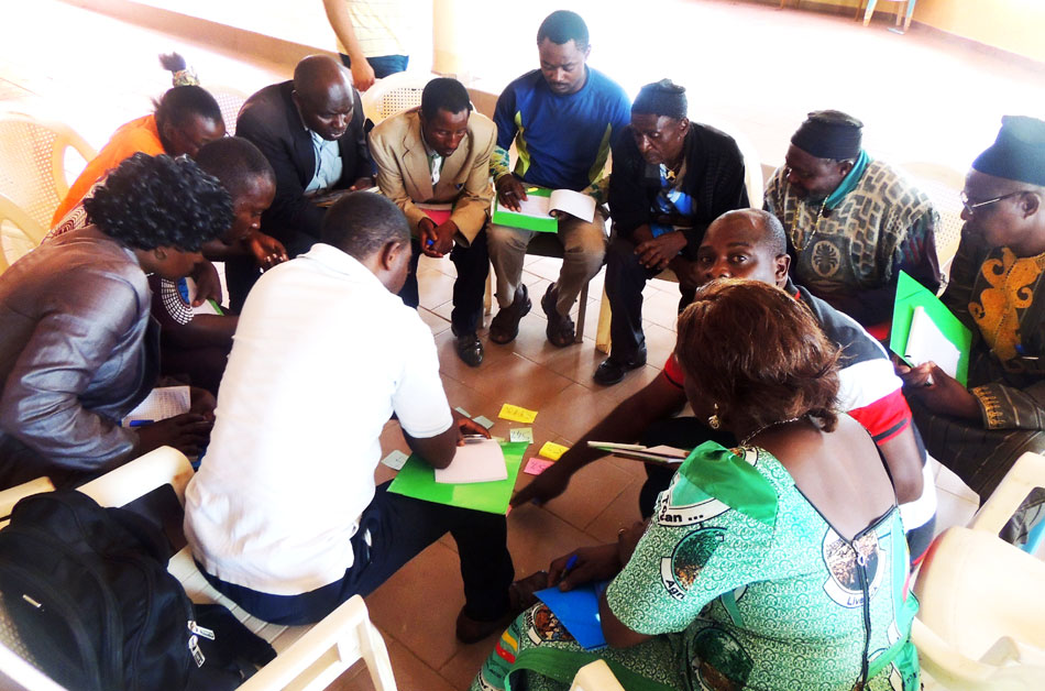 Participants devloping strategies on mainstreaming disability in action plan