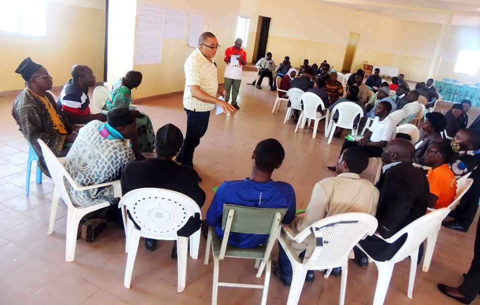SEEPD Manager drilling participants on the different components that should incorperate persons with disability