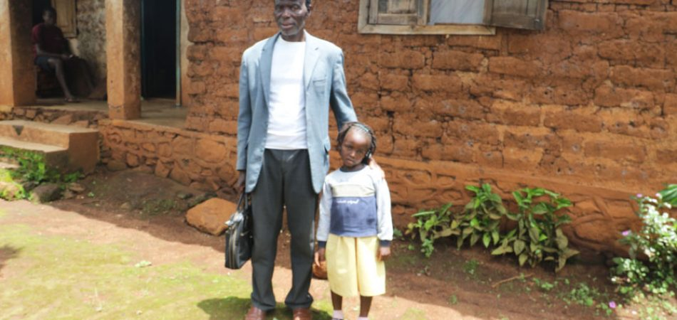Samaria and her father after her treatment