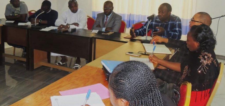 Dr Ndasi descriping the clinic as a referal center