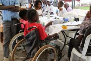 Children with disabilities during International day of persons with disability